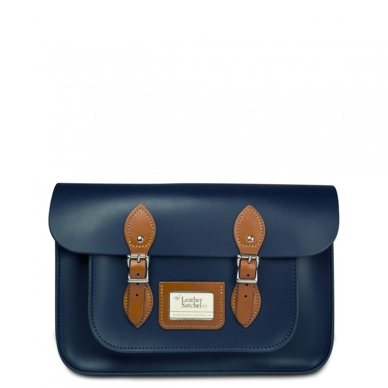 Kožená brašna od Leather Satchel - Loch Blue + London Tan 0e835d60d98