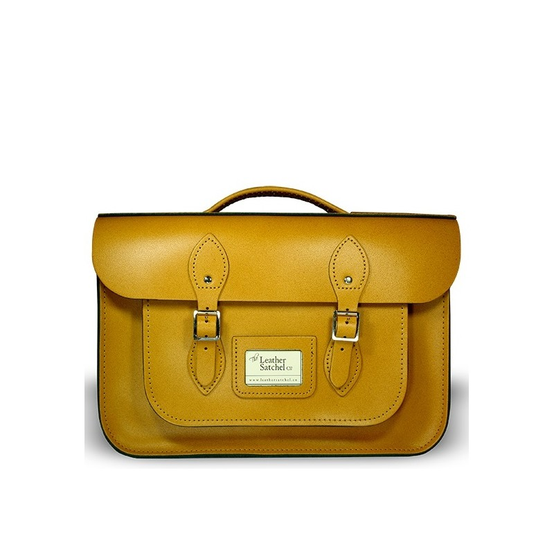 Kožená aktovka od Leather Satchel - Autumn Tan, 16,5""