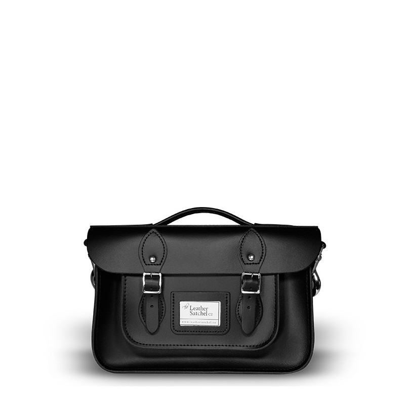 Kožená aktovka od Leather Satchel - Charcoal Black, 12,5""