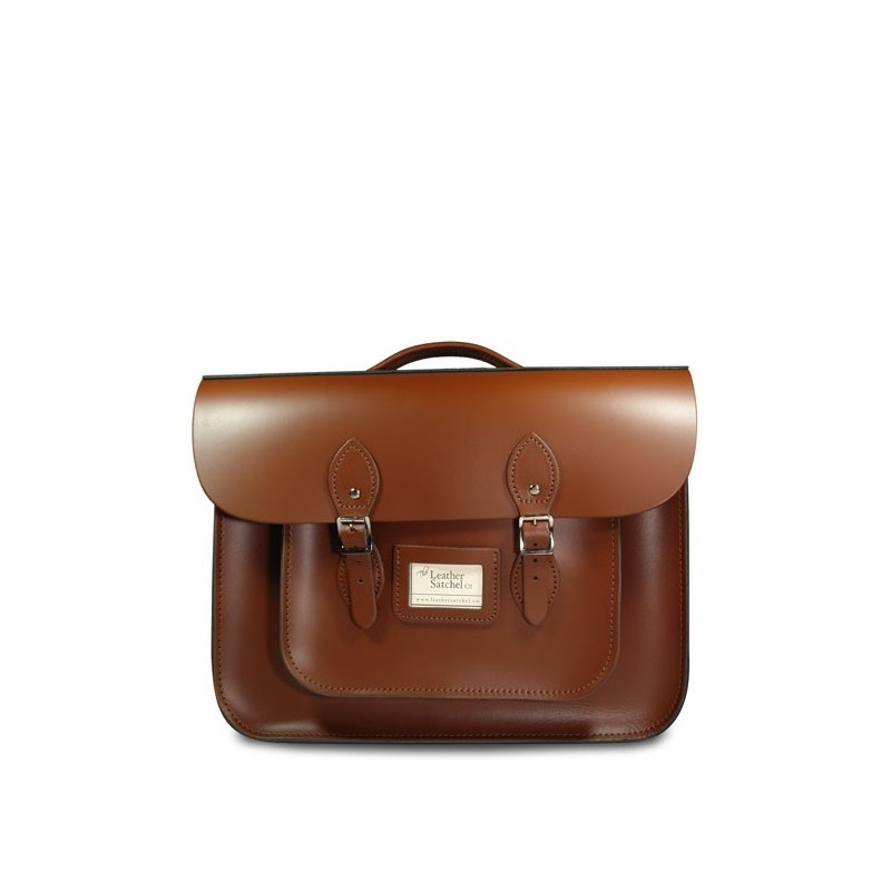 Kožená aktovka od Leather Satchel - Chestnut Brown, 15""