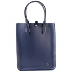 Kožená taška Tote od Leather Satchel - Loch Blue