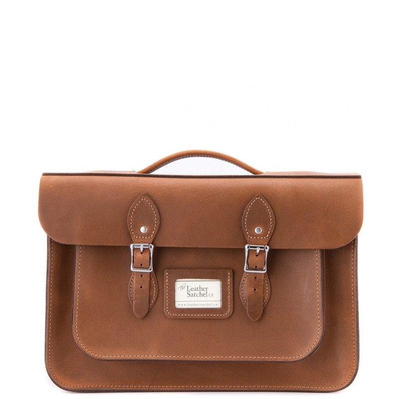 Kožená aktovka od Leather Satchel - Premium Oak, 15""