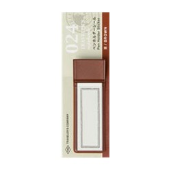 Držák na pero Traveler's Notebook Uni Sticker PVC Brown od Midori - hnědý, PVC